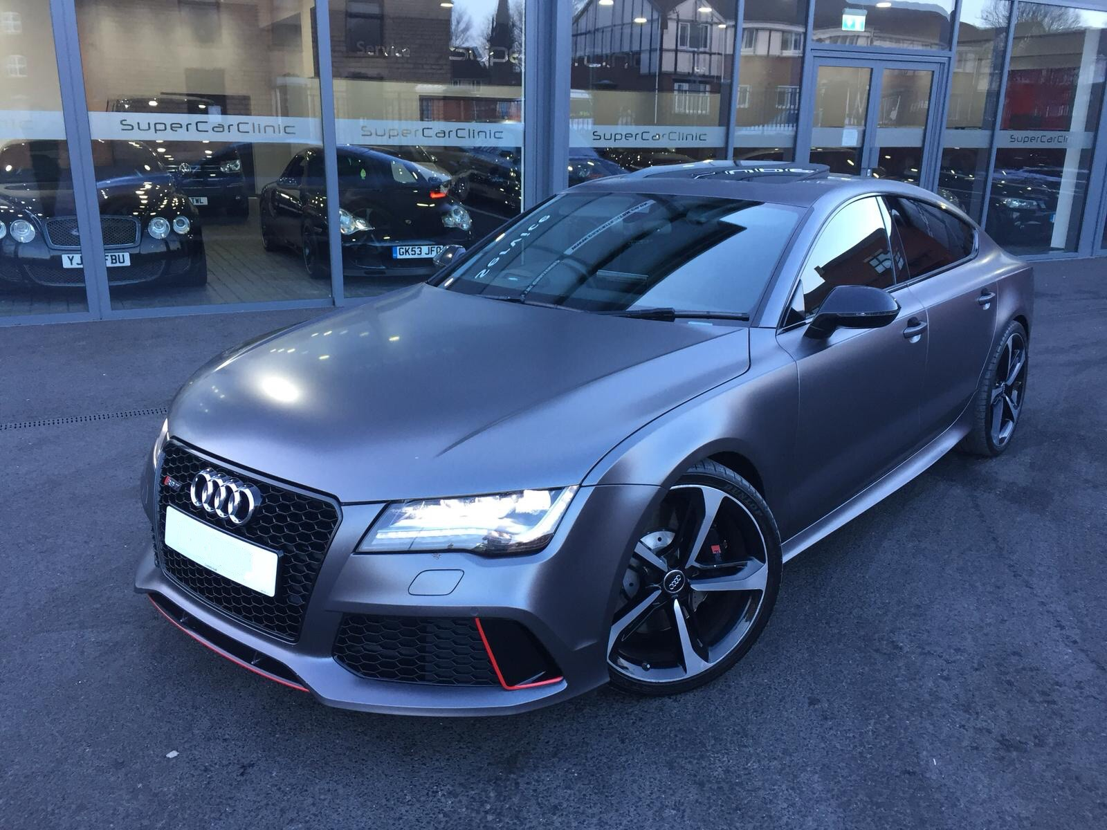 Audi RS7 wrapped in Satin Matte Grey