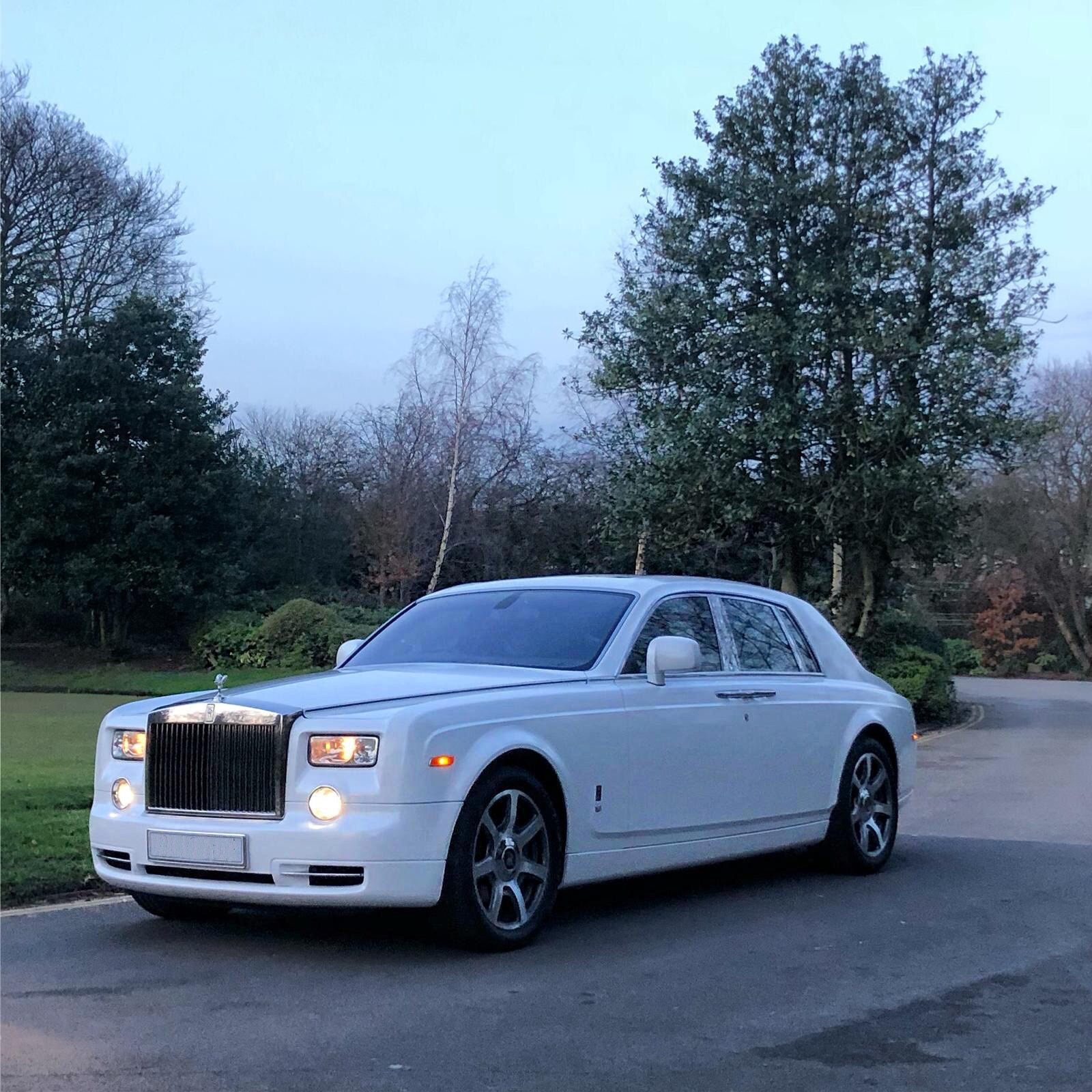 Rolls Royce wrapped in Metallic White